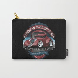 American Hot Rods Garage Vintage Car Sign Cartoon Carry-All Pouch