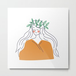 Forest girl Metal Print