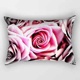 Bright Pink Roses : Pop of Color Rectangular Pillow