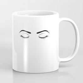 Fashion Wall Art Eyebrows On Fleek Fashion Print Makeup Print Makeup Decor Eye Lashes Girls Room Coffee Mug