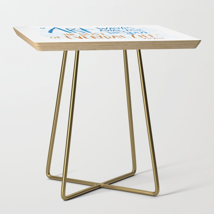 Picasso Quote Side Table