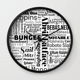 Fonts Wall Clock