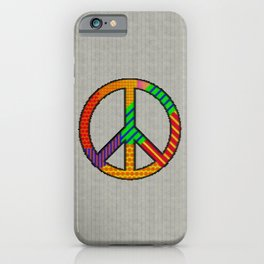 Peace – Knitting Style iPhone Case