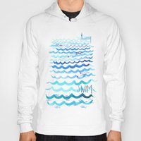 swim Hoodies featuring Swim by Rebecca Pomroy