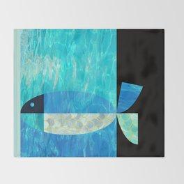 pool fish two step Throw Blanket