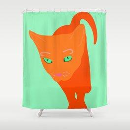 Orange cat. Ginger cat Shower Curtain