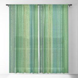 Vintage Japanese Textile Woodcut Sheer Curtain