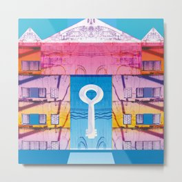 Key to the love colourfull illustration Metal Print