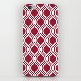 Crimson and white Alabama pattern university of alabama crimson tide college iPhone Skin
