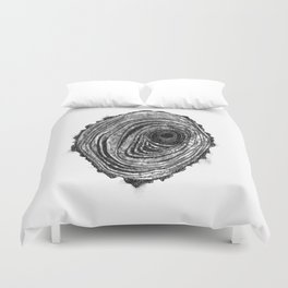 Tree Rings - Dark Duvet Cover