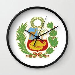 Peru Shield Wall Clock