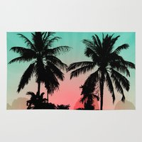palm trees Area & Throw Rugs featuring Palm Trees by mark ashkenazi