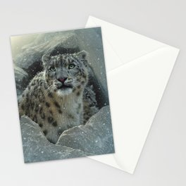 Snow Leopard - The Fortress Stationery Cards