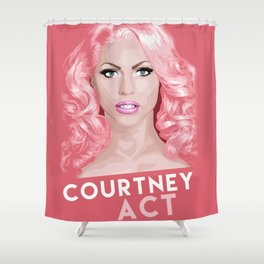 Courtney Act, RuPaul's Drag Race Queen Shower Curtain