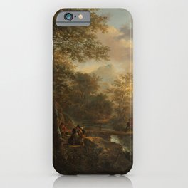 Italian Landscape with a Draughtsman by Jan Both iPhone Case