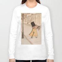 moustache Long Sleeve T-shirts featuring Moustache by Loezelot