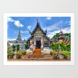 Chiang Mai Thailand Buddhist Temple Art Print