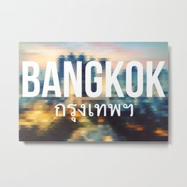 Bangkok - Cityscape Metal Print