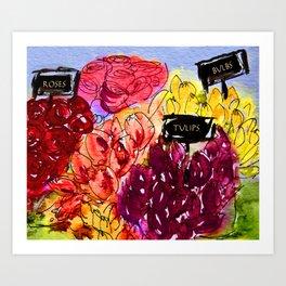 Flower Stall Art Print
