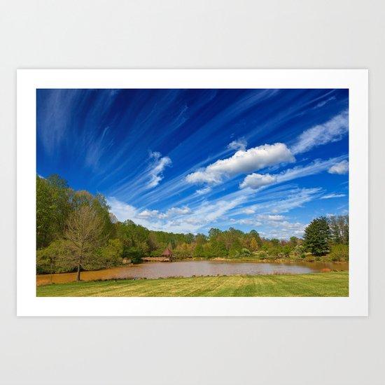 Meadowlark Cloud Gardens Art Print