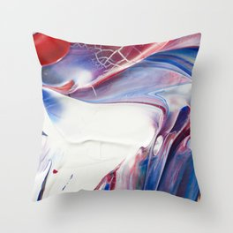 Blue Marble Throw Pillow