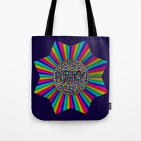 funky Tote Bags featuring FUNKY! by A-Devine