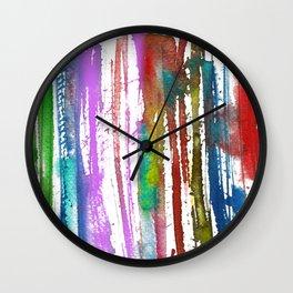 Rainbow color stripes Wall Clock