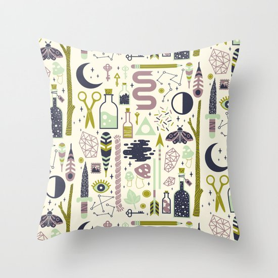 The Witch's Collection Throw Pillow