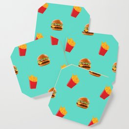 Burgers with fries Coaster