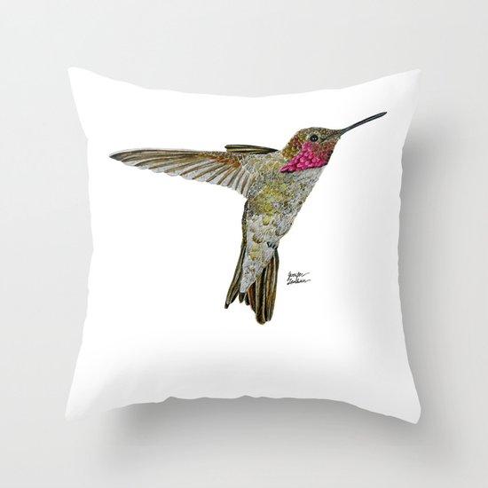 Hummingbird Ayre Throw Pillow