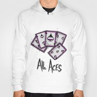 asexual Hoodies featuring All Aces by Squidbiscuit