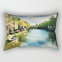 Amsterdam Waterways Rectangular Pillow