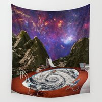 bath Wall Tapestries featuring Hurricane bath by Blaz Rojs