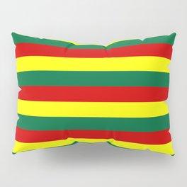 red green yellow stripes Pillow Sham