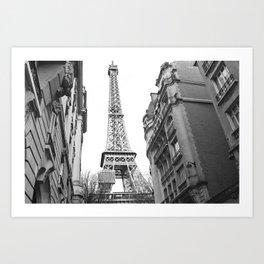 The Eiffel tower in Paris Art Print