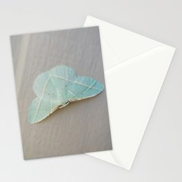 Pale Green Moth Stationery Cards