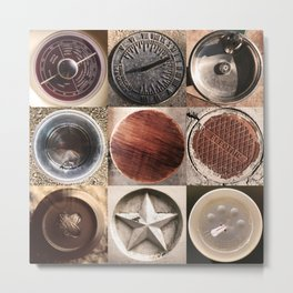 'round Austin, Texas...browns. 3x3up Metal Print