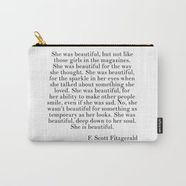 fitzgerald she was beautiful Carry-All Pouch