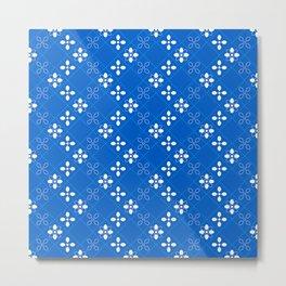 Royal Blue Tiles Metal Print