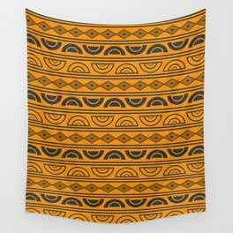 Mud cloth geometry Wall Tapestry