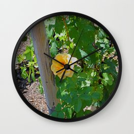 Rose In The Vine Wall Clock