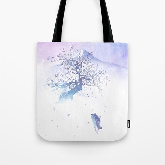 The long way to Fuji Tote Bag
