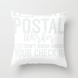 Mail Lady Gift Funny Postal Worker Throw Pillow