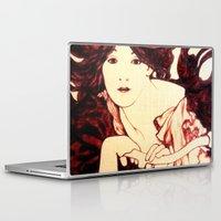 nouveau Laptop & iPad Skins featuring Nouveau Rider by Neelie