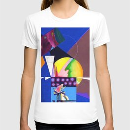 African American Masterpiece 'A Nutcracker' abstract landscape painting by E.J. Martin T-shirt