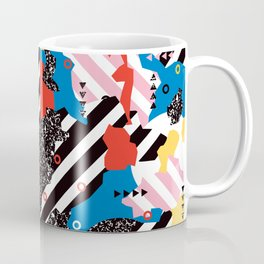 Colorful Modern Geometric Memphis - Tribal 80s 90s midcentury Coffee Mug