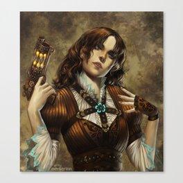 Steam Girl Canvas Print