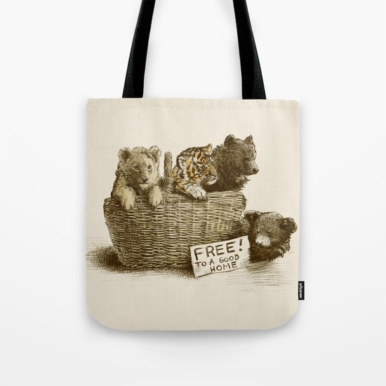 Lions and Tigers and Bears Tote Bag