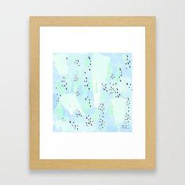 Pippa Blue Framed Art Print