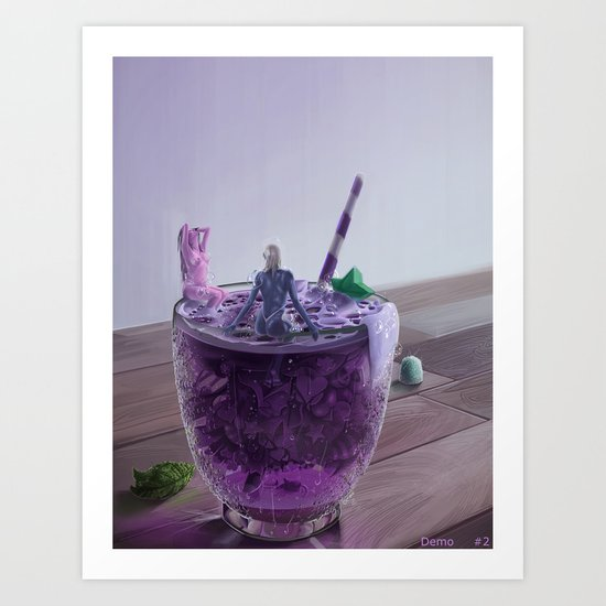 Purple Two GID no 2 Art Print